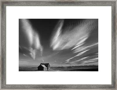 Abandoned In Alberta Framed Print by Inge Riis McDonald
