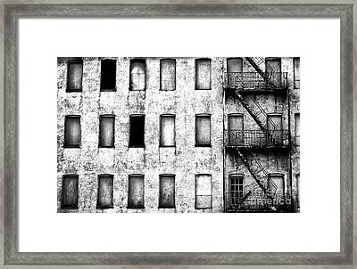 Abandoned In Asbury Park Bw Framed Print by John Rizzuto