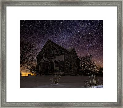 Abandoned In The Cold Framed Print