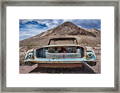 Abandoned In The Desert Framed Print by Leah McDaniel