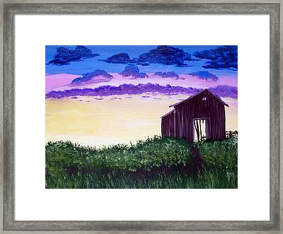 Abandoned In The Evening Framed Print by Joy Gilley