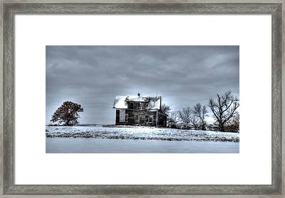 Framed Print featuring the photograph Abandoned  by Kevin Bone