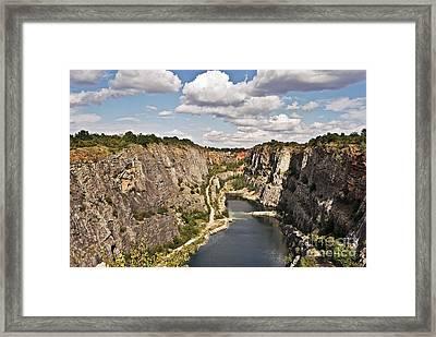 Abandoned Lime Quarry Framed Print