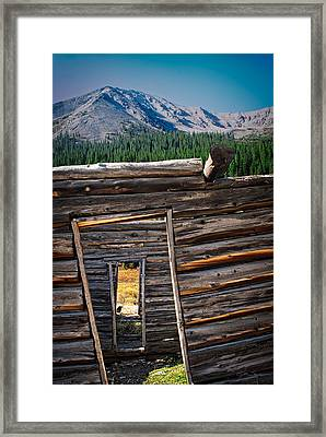 Abandoned Log Cabin In Independence Colorado Framed Print by Julie Magers Soulen