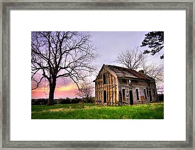 Abandoned Memories - Gateway, Arkansas Framed Print by Gregory Ballos