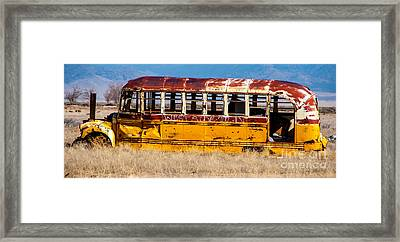 Abandoned Metro Bus - Rural Utah Framed Print
