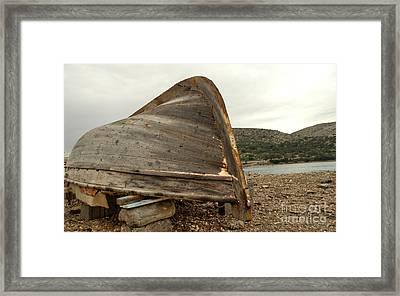 Abandoned Nafplio Fishing Boat Framed Print