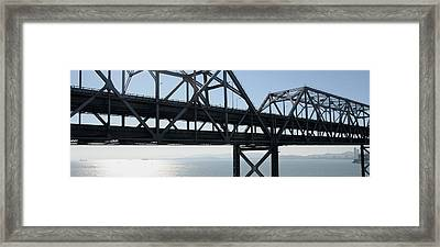 Abandoned Old Bridge Viewed From San Framed Print by Panoramic Images