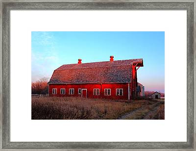Abandoned Old Red Framed Print