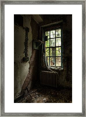 Abandoned - Old Room - Draped Framed Print