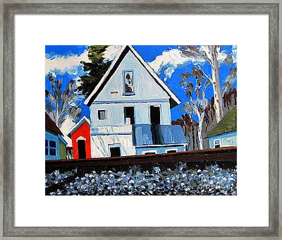 Abandoned On The Otherside Of The Tracks Framed Print by Charlie Spear