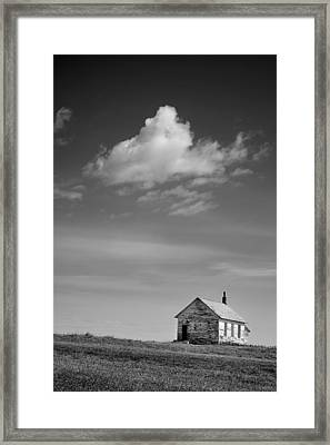 Abandoned One-room Country School Building Framed Print