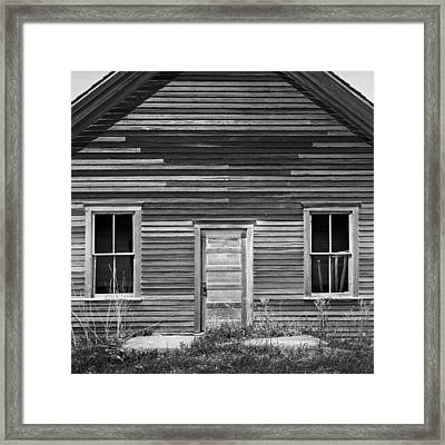 Abandoned One-room Country School Framed Print by Donald  Erickson