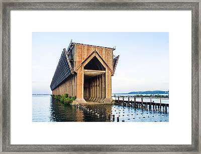 Abandoned Ore Dock Marquette Michigan Framed Print