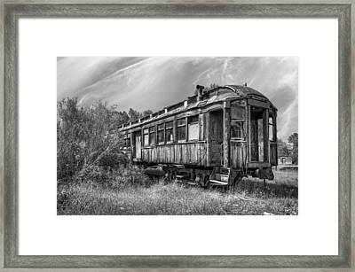 Abandoned Passenger Train Coach Framed Print by Daniel Hagerman