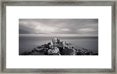 Abandoned Pier Framed Print by Adam Romanowicz