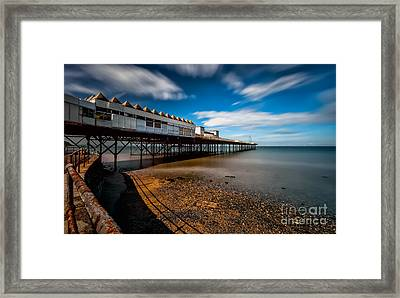 Abandoned Pier Framed Print by Adrian Evans