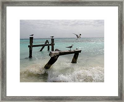 Framed Print featuring the photograph Abandoned Pier by Sean Griffin