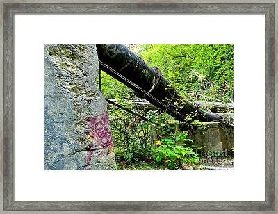 Abandoned Pipeline I Framed Print by Phil Dionne