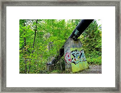 Abandoned Pipeline II Framed Print by Phil Dionne