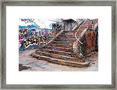 Abandoned Power Station Staircase 01 Framed Print by Rick Piper Photography