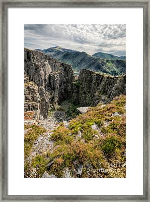 Abandoned Quarry Framed Print by Adrian Evans