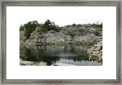 Abandoned Quarry  Framed Print
