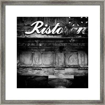 Abandoned Restaurant Framed Print