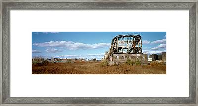 Abandoned Rollercoaster In An Amusement Framed Print by Panoramic Images
