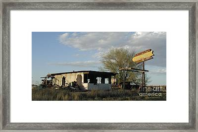 abandoned Route 66 Liquor Store Framed Print