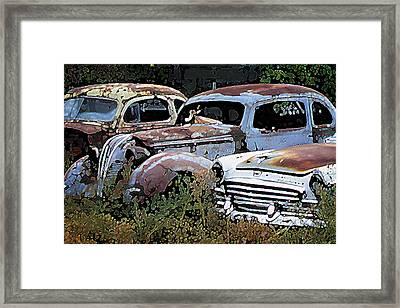 Abandoned Row Framed Print