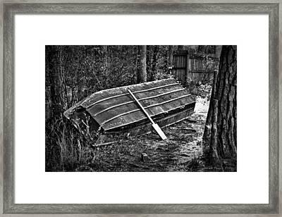 Abandoned Rowboat Framed Print by Tara Potts