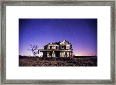 Abandoned Rural Farmhouse Framed Print by Malcolm Macgregor