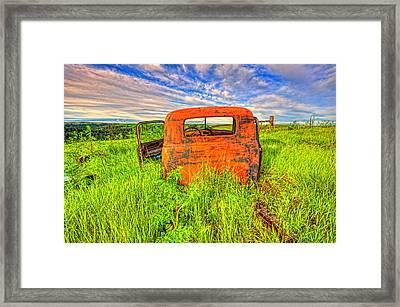 Abandoned Rusting Truck Framed Print