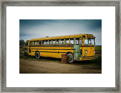 Abandoned School Bus Framed Print by Puget  Exposure