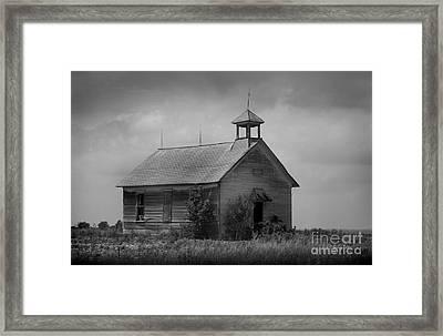 Abandoned Schoolhouse Framed Print by E B Schmidt