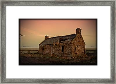 Abandoned Scottish Croft Framed Print by Liz  Alderdice