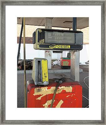 Abandoned Service Station Framed Print by Robert Brook