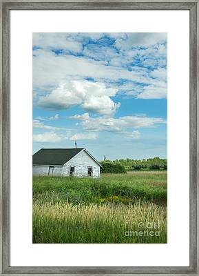 Abandoned Shack In The Country Framed Print by Jill Battaglia