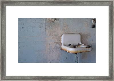 Abandoned Sink Framed Print