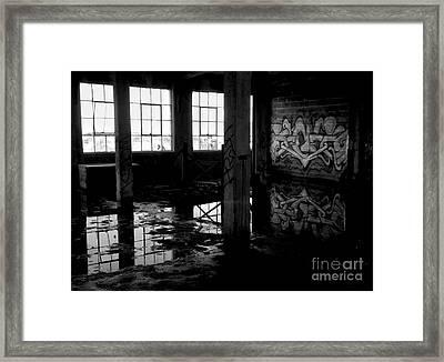 Abandoned Space II - Bw Framed Print by James Aiken