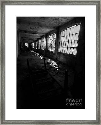 Abandoned Space IIi - Bw Framed Print by James Aiken