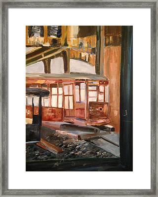 Abandoned Streetcar In Savannah Framed Print by Christina Campo-Abdoun
