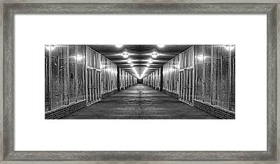 Abandoned Strip Mall Panoramic Framed Print by Tom Mc Nemar