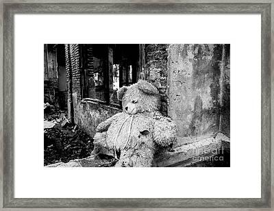 Abandoned Teddy Bear II Framed Print by Dean Harte