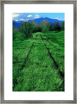 Road To Nowhere Framed Print by Mike Flynn