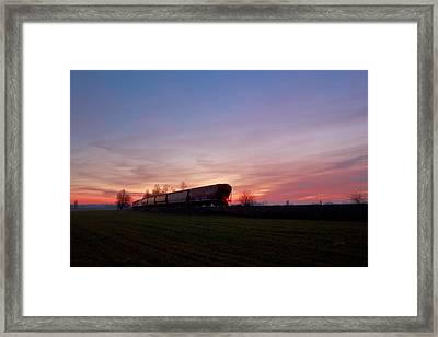 Framed Print featuring the photograph Abandoned Train  by Eti Reid
