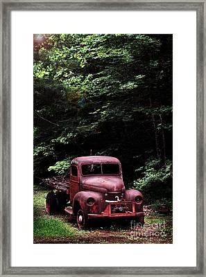 Abandoned Truck Framed Print by Stephanie Frey