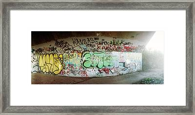 Abandoned Underpass Wall Covered Framed Print by Panoramic Images