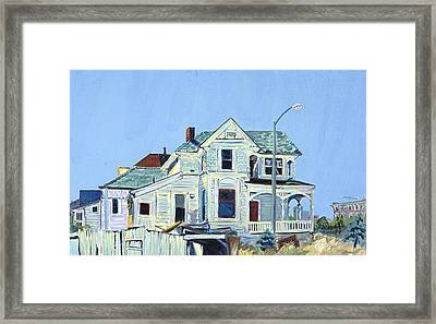 Framed Print featuring the painting Abandoned Victorian In Oakland  by Asha Carolyn Young